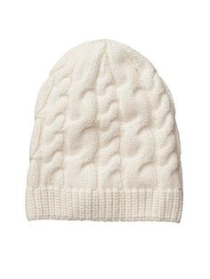 Cashmere Cable Beanie - Total luxe has gone to your head in this lightweight-yet-warm, 100% cashmere beanie.