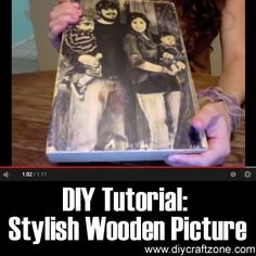 Do It Yourself Projects, Cool Diy Projects, Craft Tutorials, Craft Ideas, Decor Ideas, Wooden Picture, Fun Crafts, Mummy Crafts, Photography Projects