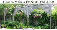 Need more privacy in your garden? Consider making a fence taller or adding privacy screens to block neighbours from peering into your secret garden.