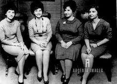 Annette Dionne Allard, Cecile Dionne Langlois, Marie Dionne Houle and Yvonne Dionne at their school/class reunion.