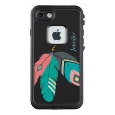 #trendy - #Teal Boho Feather LifeProof® FRĒ® iPhone 7 Case