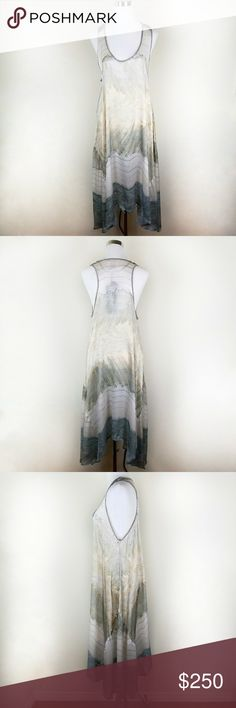 {BIYA*JOHNNY WAS} Silk Abstract Print Maxi Dress Size: XL Color: Multi  Retail Price: $310  Beautifully airy and luxurious, abstract print silk dress from BIYA Johnny Was. Johnny Was Dresses Maxi