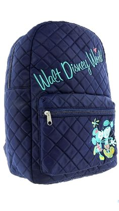 Disney Backpack Bag - Mickey and Minnie Quilted - Walt Disney World