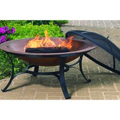 CobraCo Cast Iron Copper Fire Pit-FB6132 - The Home Depot
