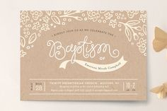Woodland Baptism and Christening Invitations by Jennifer Wick at minted.com
