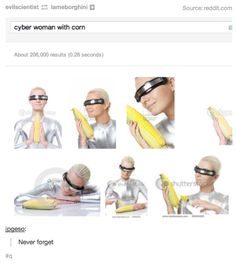 """Cyber woman with corn"" 