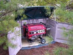 Storage shed generator sheds plans portable enclosure finished