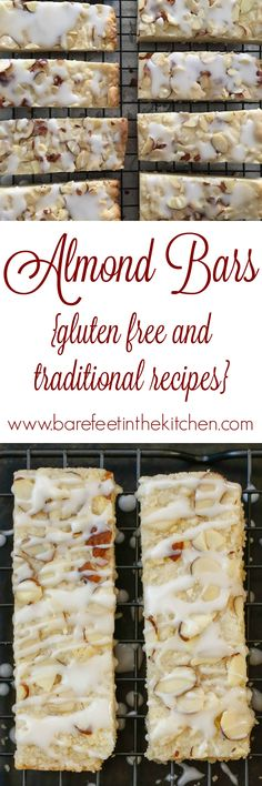 Almond Shortbread Bars {traditional and gluten-free recipes}