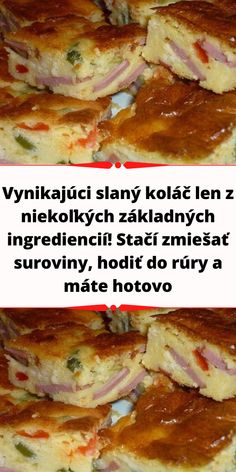 Slovak Recipes, French Toast, Food And Drink, Meat, Chicken, Breakfast, Hampers, Morning Coffee, Cubs