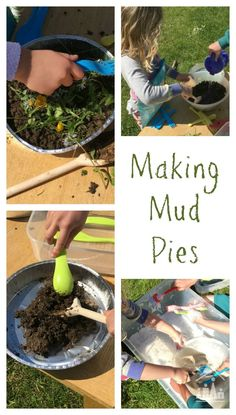 Make some memories out in your backyard and bake mud pies with your kids. A childhood classic that every child should enjoy at least once. Kids Outdoor Play, Outdoor Activities For Kids, Outdoor Fun, Outdoor Learning, Summer Activities For Kids, Fun Activities, Creative Activities, Activity Ideas, Preschool Activities