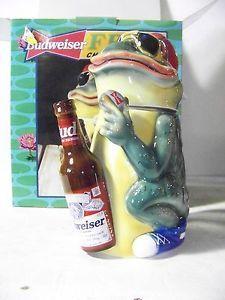 Budweiser Beer Frog Stein  EPIC!