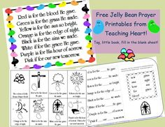 Free Jelly Bean Prayer Printables Teaching Heart