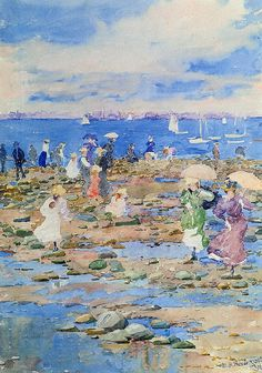 Summer visitors,1896, Maurice Prendergast was an American Post-Impressionist artist who worked in oil, watercolor, and monotype.