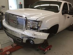 Monday morning tow in at Autobody and More