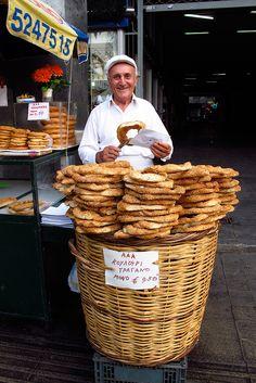 Koulouri vendor, Athens, Greece