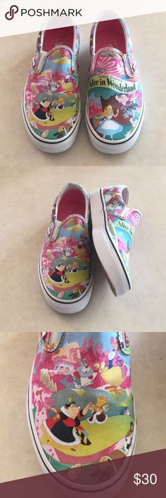 """Limited edition """"Alice"""" Vans size 8.5 Limited edition """"Alice in Wonderland Vans size 8.5 Vans Shoes Sneakers"""