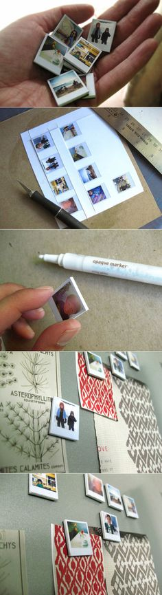 Your Mini Polaroid photography exhibition --DIY magnet decorative gift http://www.52souluo.com/28699.html