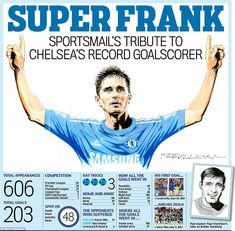 Paul Trevillion's tribute to Frank Lampard, Chelsea's now all-time top goalscorer with 203 goals