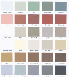 Surecrete Color Chart 326114515 Std
