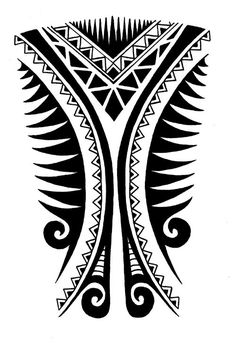 American Samoa tattoo designs on the leg | Calf tattoo design