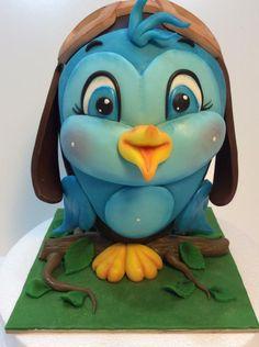 little blue bird for Easter - cake by Carla Poggianti Il Bianconiglio