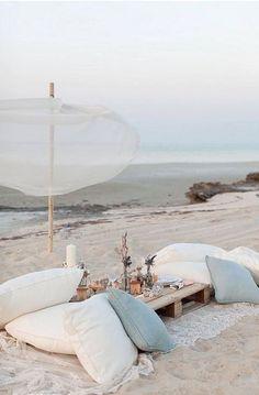 romantic little beach setup