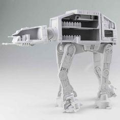 Incredibly Detailed 3D Printed AT-AT Strikes MyMiniFactory! — via @3dprintforum #StarWars #3DPrinting