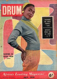 Drum Magazine, South Africa, 1950s.