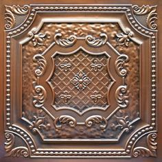Dct 04 Faux Tin Ceiling Tile Is A Glue Up That Comes In Antique Copper