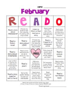 My kids were not motivated to do their nightly reading homework, so I created a reading challenge for them. Since starting it, they have all jumped on board and are loving it.... I have 95-100% participation. Within a week of receiving their first READO challenge, they were all asking if we could do it again next month.Most challenges involves something related to reading (genres of books, summarizing, reading to someone etc...) or they relate to oral language and sharing ideas and…