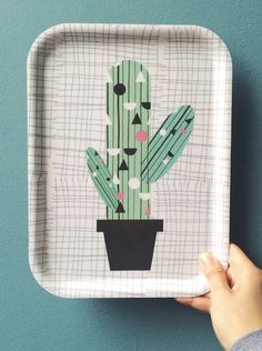 We Love Cacti. So with our obsession we decided to create a cactus tea tray.Cacti occur in a wide range of shapes and sizes. Most cacti live in habitats. Tea Tray, Going On Holiday, Diy Interior, Tropical Leaves, Trip Planning, Home Goods, Shapes, Artwork, Cacti