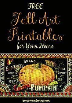 Free Fall Art Printables