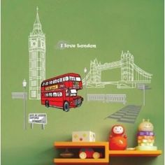 I Love London Wall Stickers