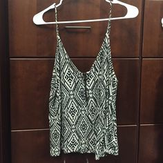 Forever 21 Tribal Tank Top F21 Tribal, Front zip-up, black and white tank top.  Lightly used. Forever 21 Tops Tank Tops