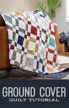 Ground Cover Quilt This stylish quilt is an easy DIY sewing project that is perfect for that layer cake (package of 10 Layer Cake Quilt Patterns, Layer Cake Quilts, Star Quilt Patterns, Fabric Squares, Easy Quilt Patterns Free, Layer Cakes, Canvas Patterns, Missouri Star Quilt Tutorials, Quilting Tutorials