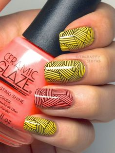 """Summer Brights with Ceramic Glaze Nail Polish in """"My Dance Card's Full"""" & """"I'm on Island Time"""": Review and Swatches"""