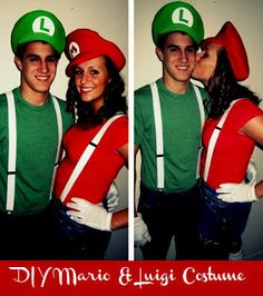 Or Mario/Peach or Luigi/Daisy Creative Couples Costumes For Halloween Clever Couple Costumes, Cute Couples Costumes, Diy Costumes, Costume Ideas, Party Costumes, Hallowen Costume, Halloween Kostüm, Couple Halloween Costumes, Holidays Halloween