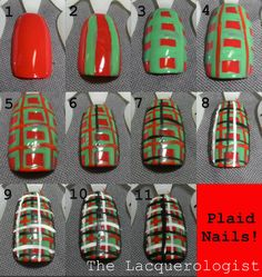The Lacquerologist: Holiday Plaid Tutorial!!