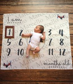 Personalized first year monthly backdrop by PearlPearDesigns