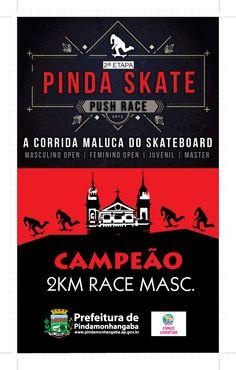 2ª Etapa Pinda Skate Push Race - 2015 | Prefeitura de Pindamonhangaba (troféu)