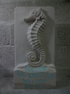 Portland stone Wall Mounted or Wall Hanging sculpture by artist Duncan Park titled: 'Seahorse (Carved High Relief Wall Panel Indoor/Outdoor sculpture Plaqu)' Sculpture Clay, Abstract Sculpture, Stone Sculptures, Sculpture Ideas, Slab Boxes, Portland Stone, Clay Art Projects, Outdoor Sculpture, Garden Sculpture