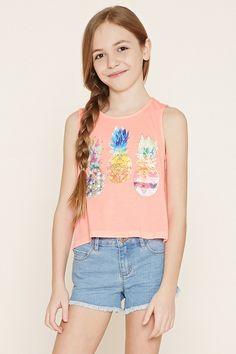 Girls Pineapple Tank (Kids) Forever 21