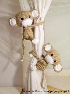 małpki do upinania zasłon