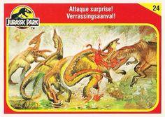 Jurassic World Trading Cards Jurassic Park Trilogy, Jurassic Park Toys, Jurassic Park 1993, Parking Design, Cryptozoology, Animal 2, Tyrannosaurus, Prehistoric, Science Fiction