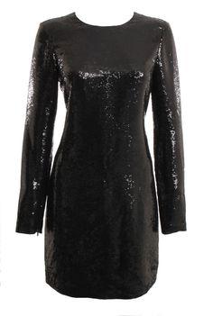 Diane Von Furstenberg Midnight Blue/Black Sequin Menaro Dress Size 12 – London Couture