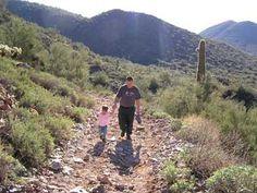 Hiking the Overton/Go John Trails at Cave Creek Regional Park.