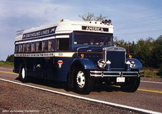 Vintage Greyhound bus