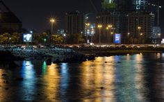 #Corniche #Jeddah- #tourism #night  Photography by Almas Baig.