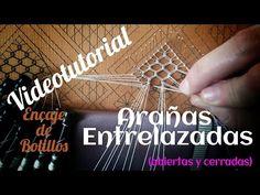 Arañas Entrelazadas. Encaje de Bolillos (nivel intermedio) - YouTube