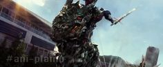 Optimus and Grimlock Transformers Age of Extinction: Battle Cry gif
